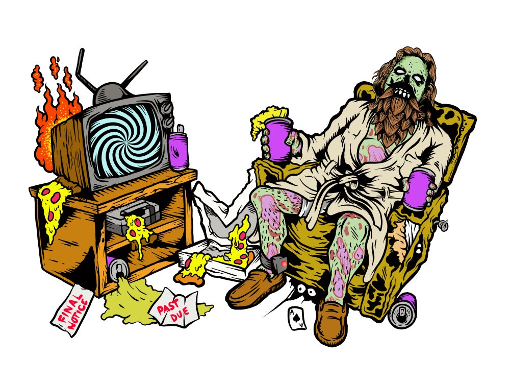 Beer Zombies - Abide To Quarantine Glass