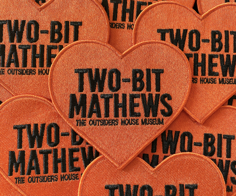 "Image of The Outsiders House Museum ""Two-Bit"" Heart Patch."