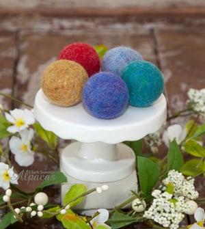 Alpaca Cat Toy Balls with Bell Felted Inside - Made with Llama Alpaca Wool Fiber