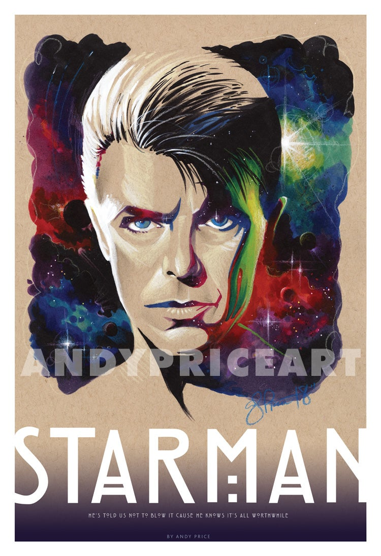 Starman - Signed Archival Print