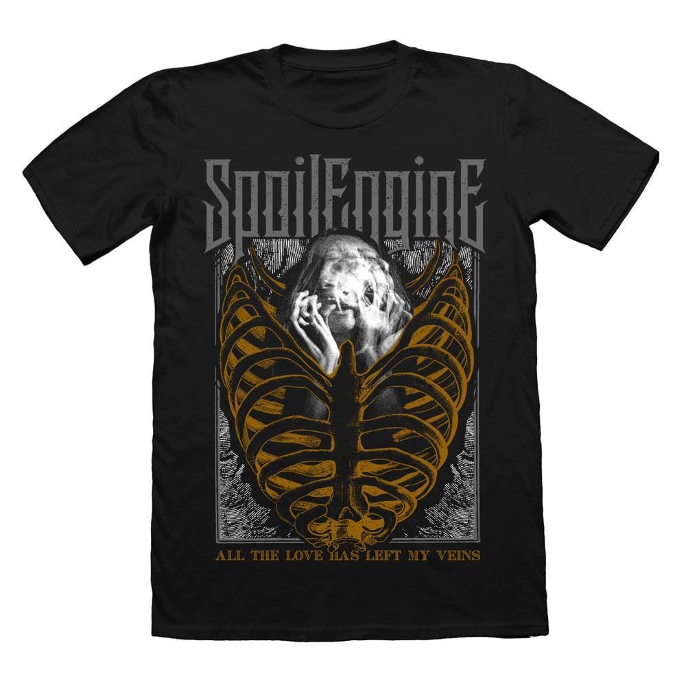 """Image of """"Golden Cage"""" Black Shirt"""
