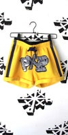 top notch shorts in yellow