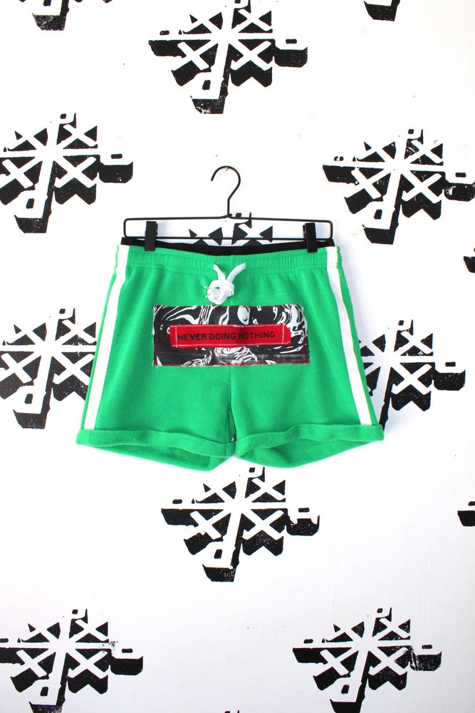 Image of ndn shorts in green