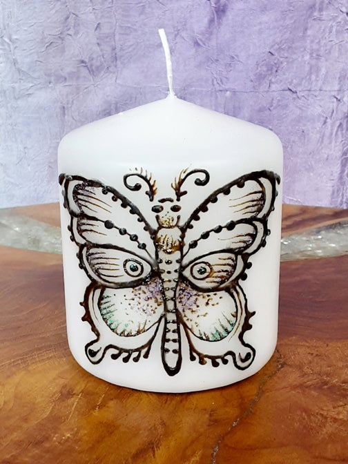 Image of 3x 3 Butterfly Henna Candle