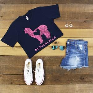 Love Alpaca T-Shirt - Casual Favorite Fit - Comfortable Cotton - Alpaca/Llama Lovers - Made In U.S.