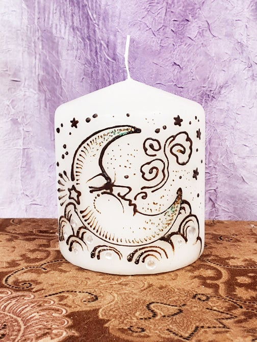 Image of 3 x 3 Moon Henna Candle
