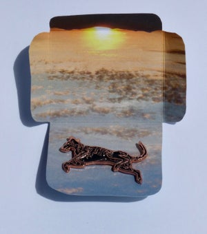 Flying Dog Enamel Pin