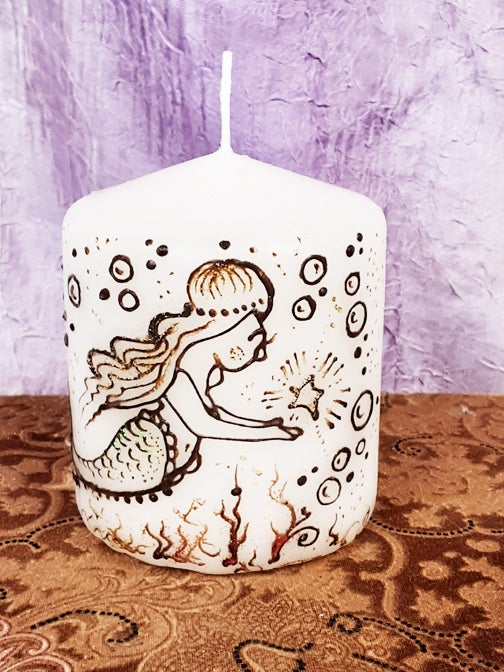Image of 3 x 3 Mermaid Henna Candle