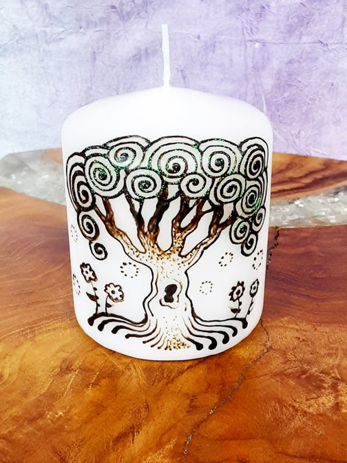 Image of 3 x 3 Tree of Life Henna Candle