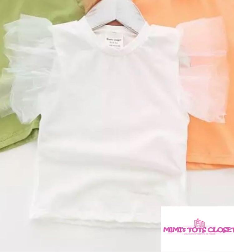 Image of White Tutu Top
