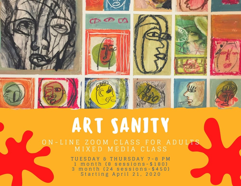 Image of Art Sanity Online ZOOM class-1 month