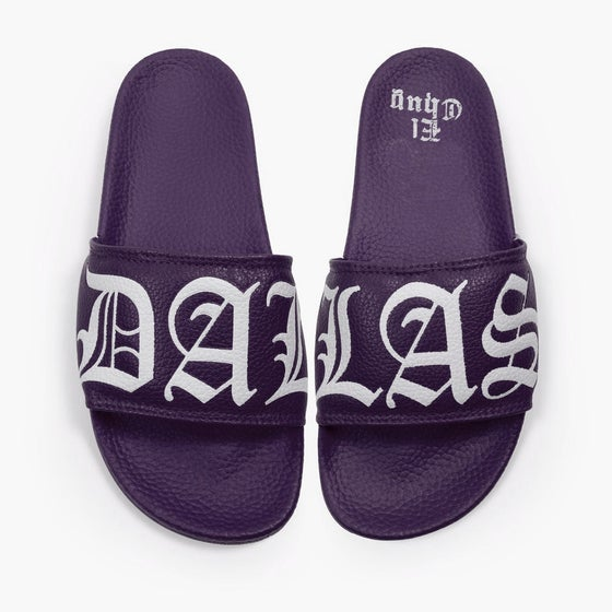 Image of DALLAS PURPLE SLIDES (NOW SHIPPING)