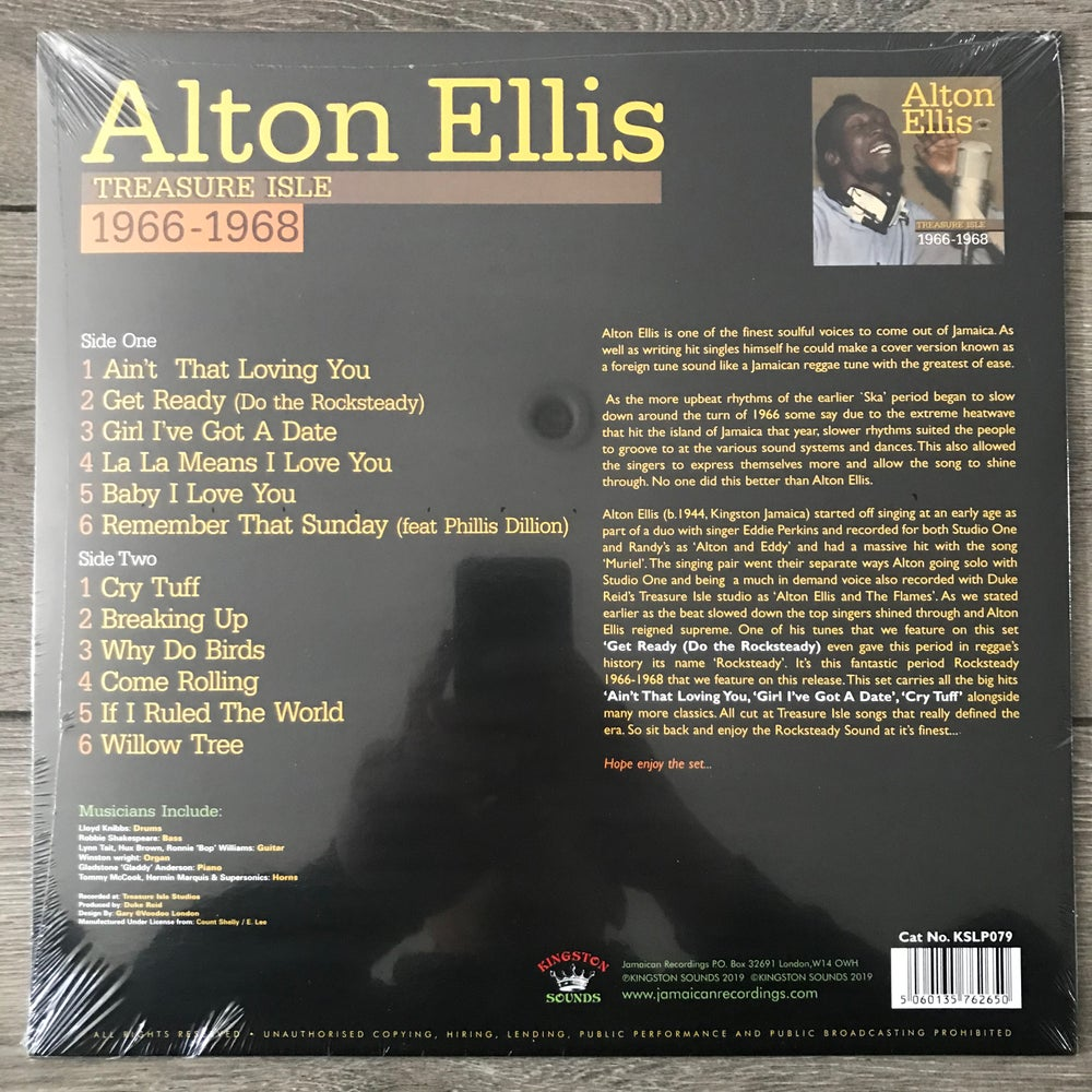 Image of Alton Ellis - Treasure Isle 1966-1968 Vinyl LP