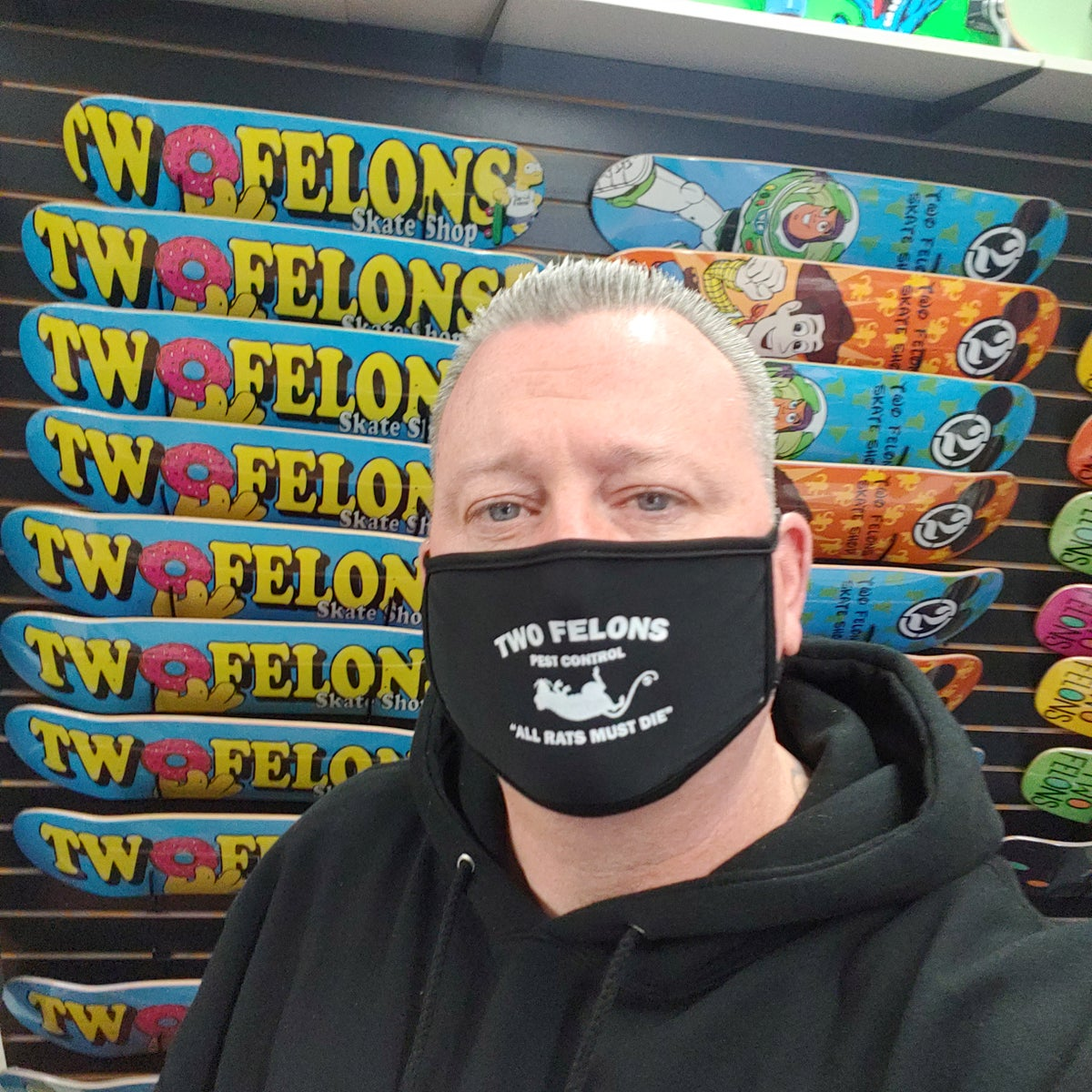 "Two Felons ""Pest Control"" Face Masks"