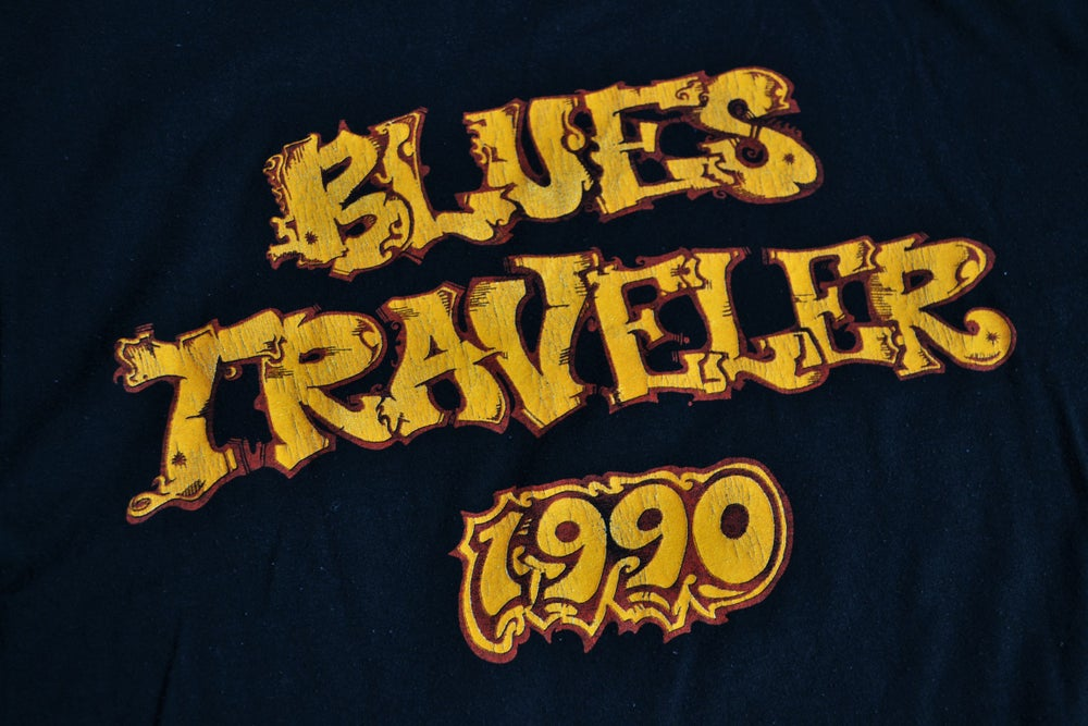 Image of Vintage 1990 Blues Traveler Rock Concert Tour T-Shirt Sz.XL