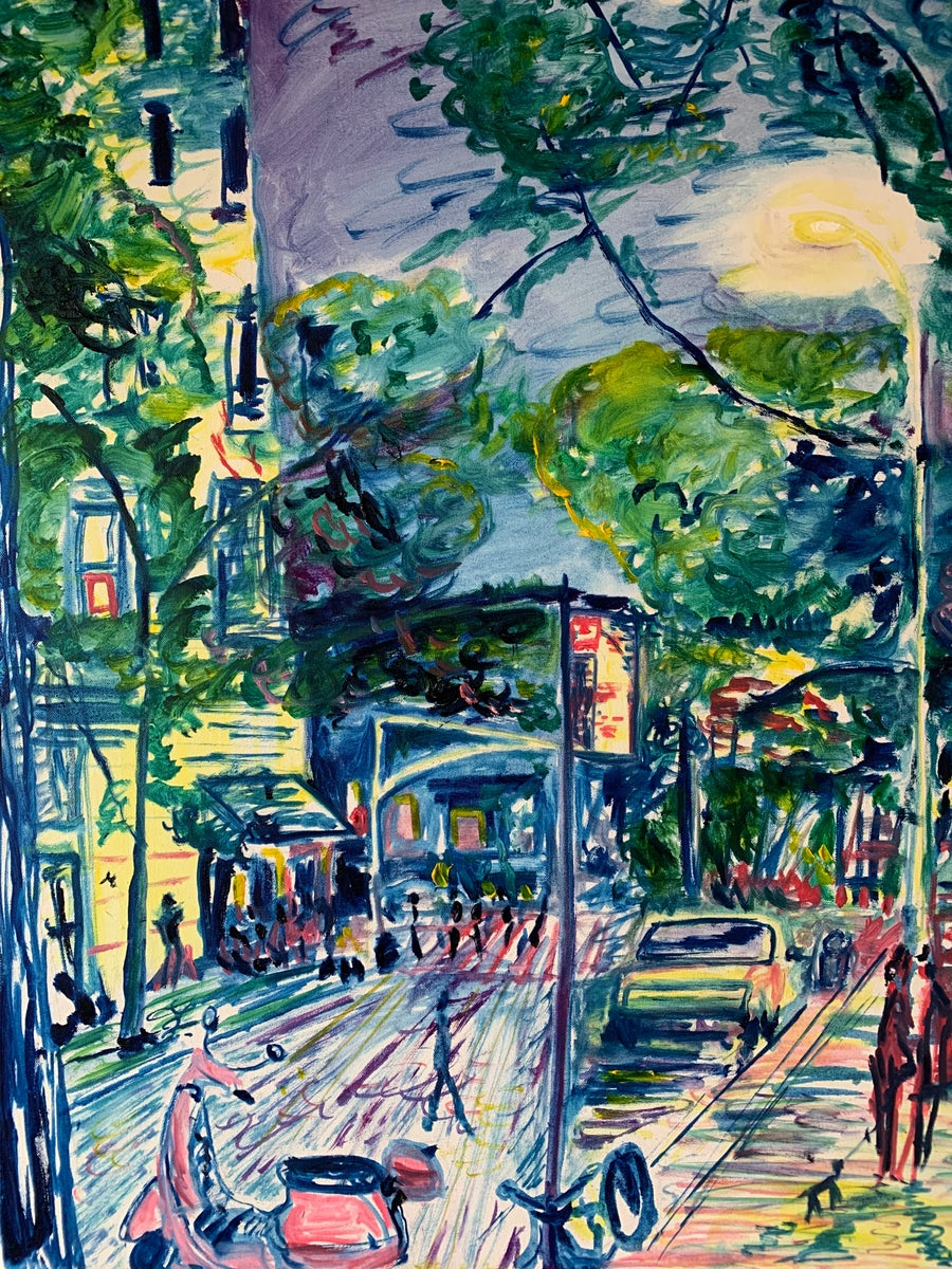 "Image of West 4th St  40"" x 30"" painting"