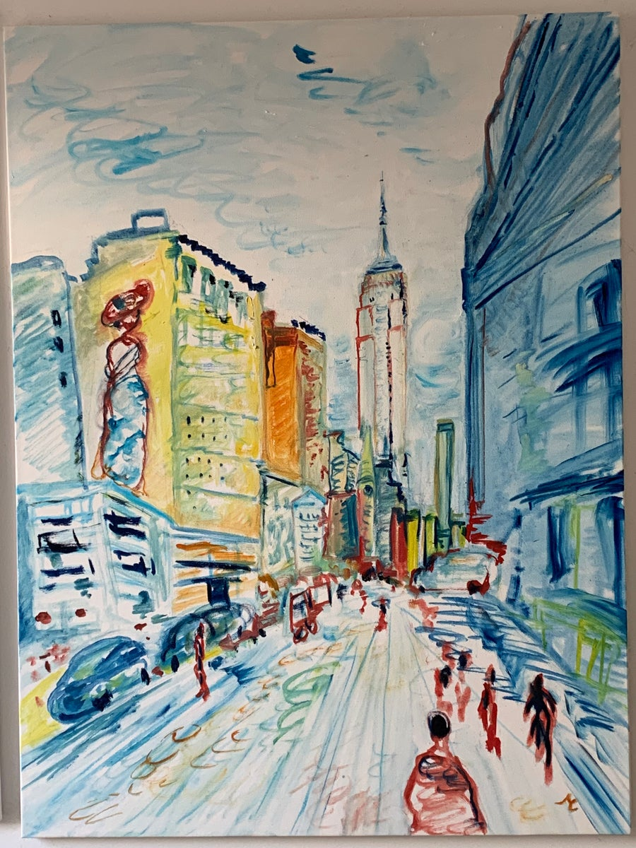 "Image of 5th Ave, 40"" x 30"" Painting"