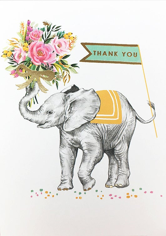 Image of Elephant Thank You Card