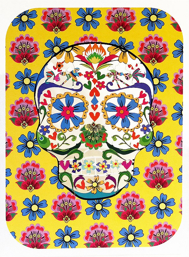 Image of Sugar Skull Paper Cut Card