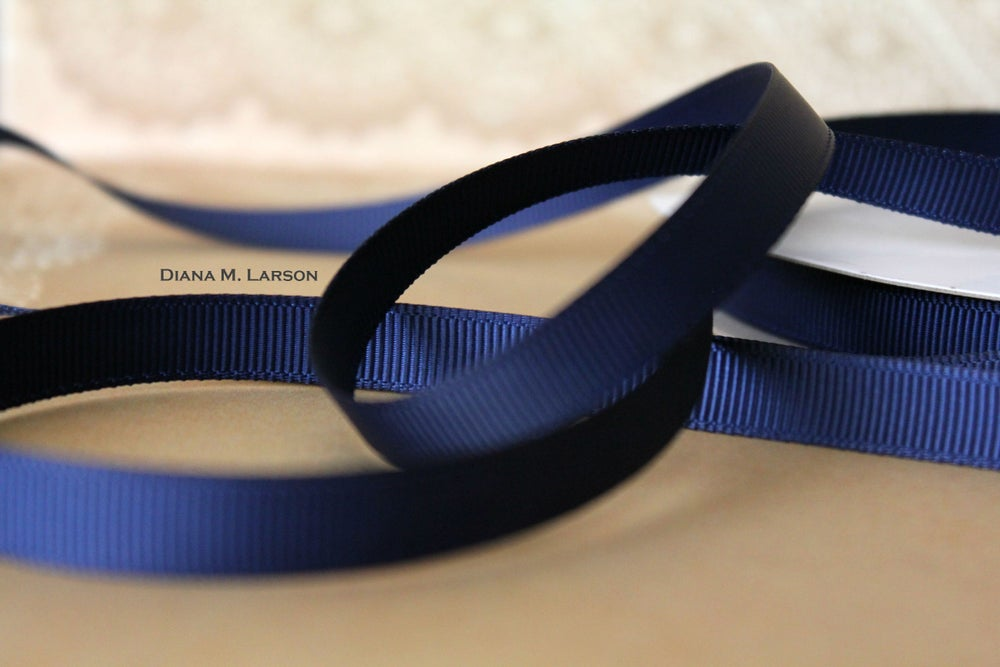 Image of Navy grosgrain ribbon
