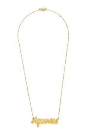 Image of Amano Aquarius Zodiac Chain Necklace