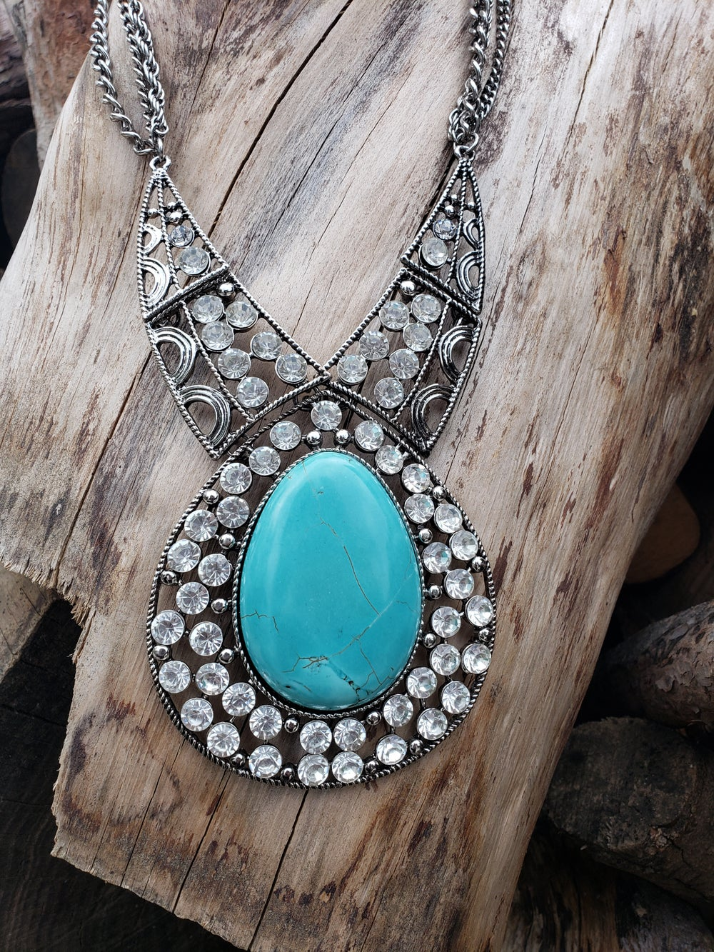 Image of Fatima Crystal Necklace