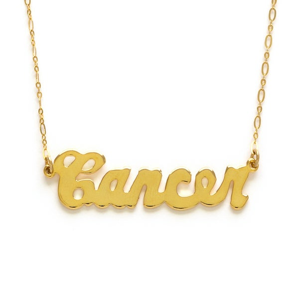 Image of Amano Cancer Zodiac Chain Necklace