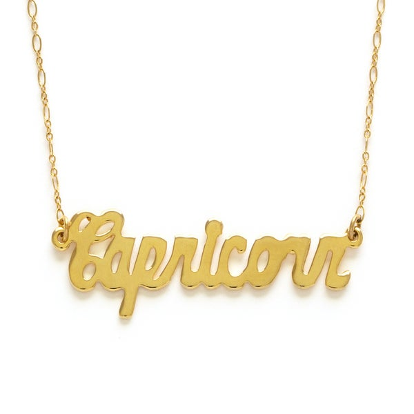 Image of Amano Capricorn Zodiac Chain Necklace