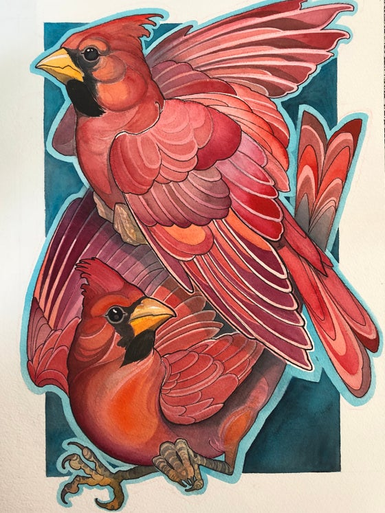 Image of two cardinals