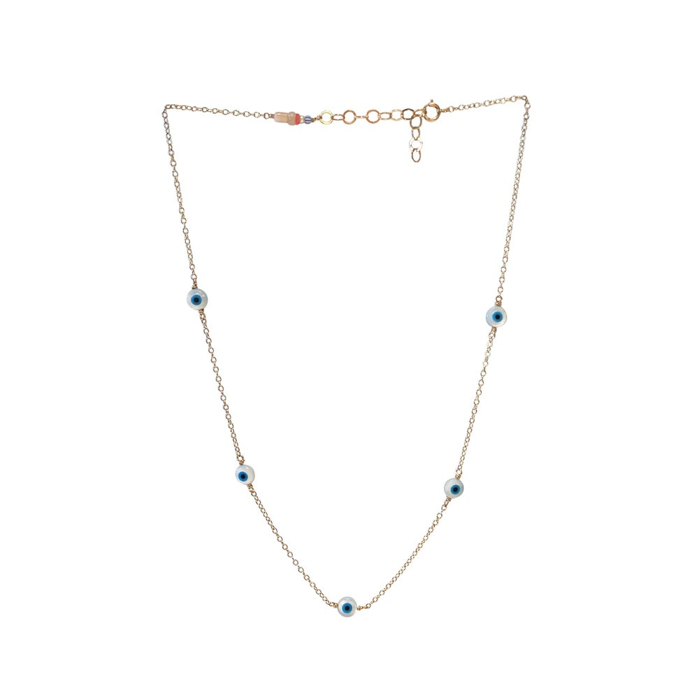 Image of Eye 5 Piece Station Necklace Gold Filled