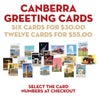 Canberra Greeting Cards six pack