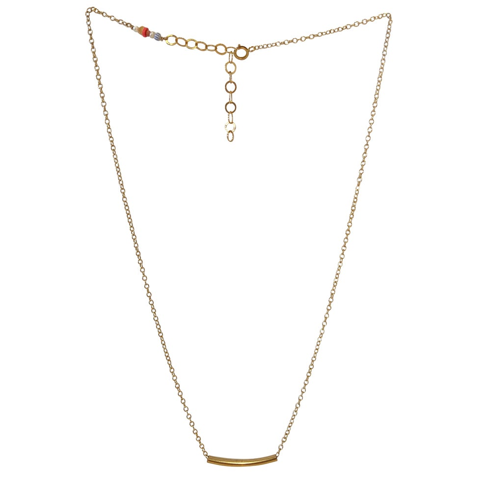 Image of Gold Filled Curve Necklace