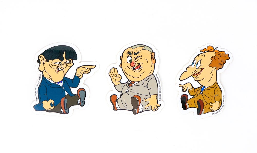 Image of The Three Stooges Decal Stickers