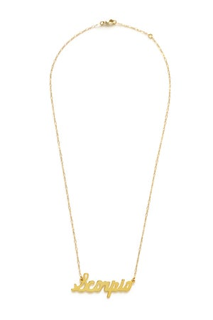 Image of Amano Scorpio Zodiac Chain Necklace