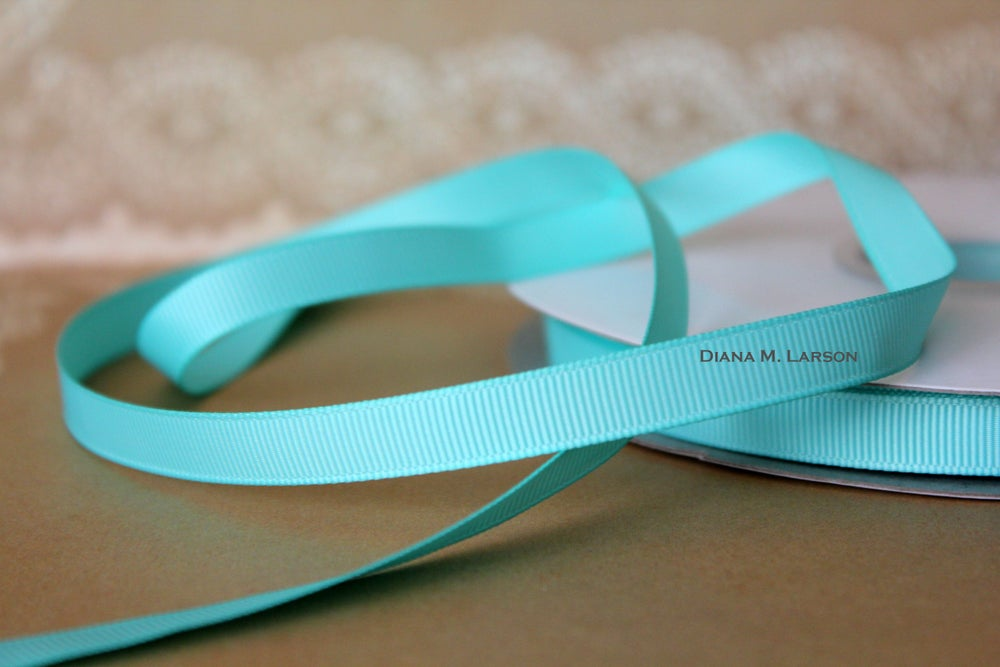 Image of Aqua grosgrain ribbon