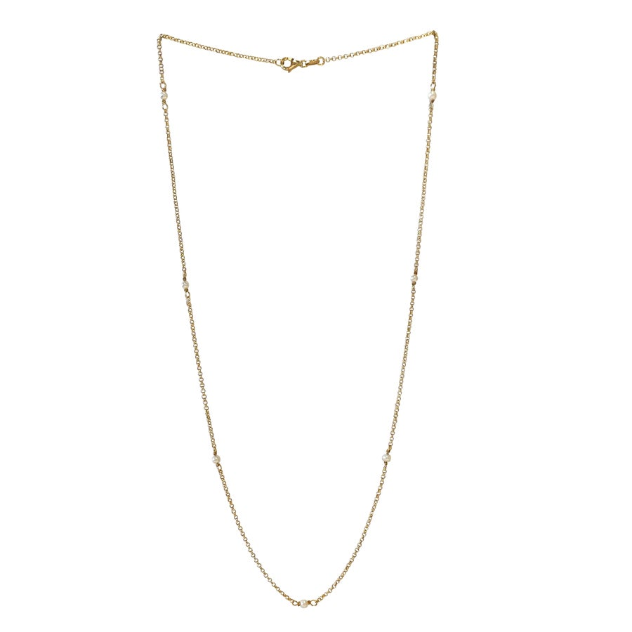 Image of Genuine Pearl Gold Filled Necklace