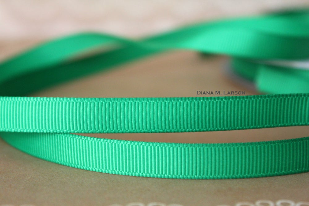 Image of Emerald grosgrain ribbon