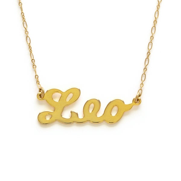 Image of Amano Leo Zodiac Chain Necklace