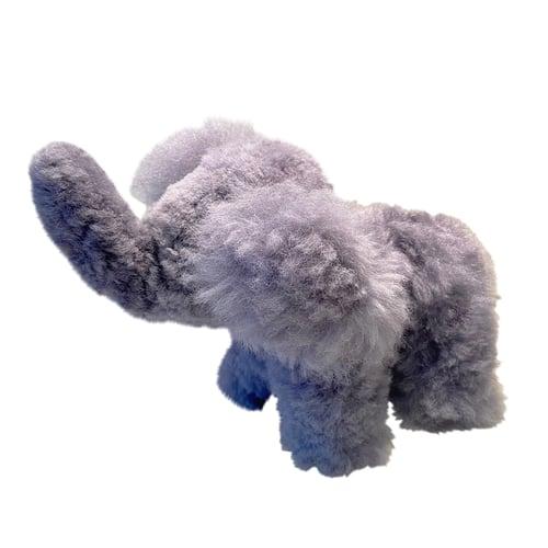 Image of Large STUFFED ALPACA Elephant