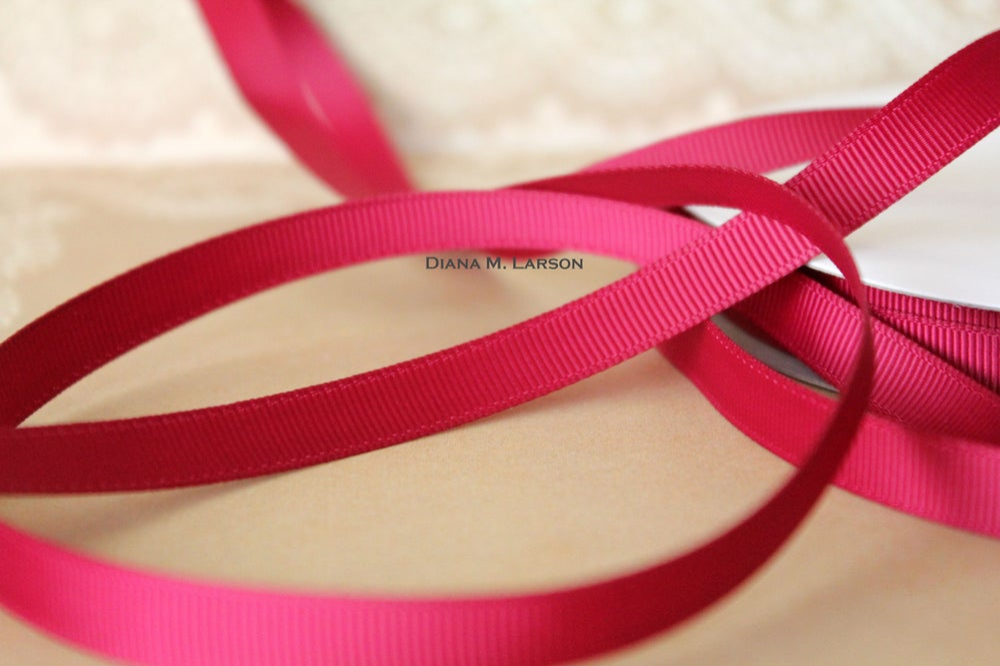 Image of Wine grosgrain ribbon