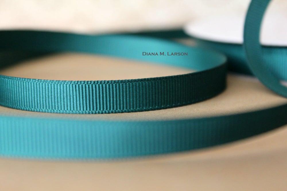 Image of Spruce grosgrain ribbon