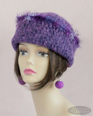 Alpaca Hats - Wide Brim - Wool Blend - Crocheted and Semi Felted for Warmth and Comfort - Handmade