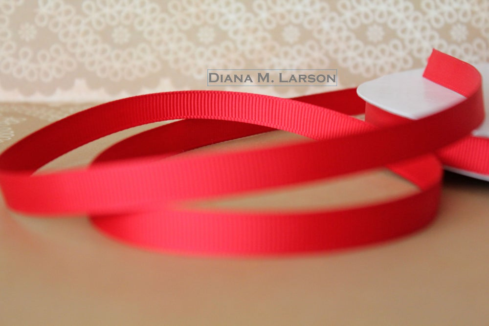 Image of Red grosgrain ribbon