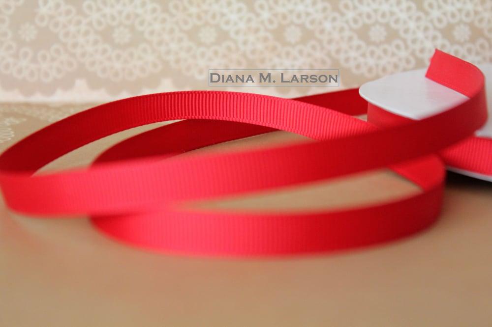 Image of Red grosgrain ribbon