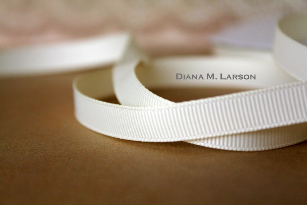Image of Ivory grosgrain ribbon