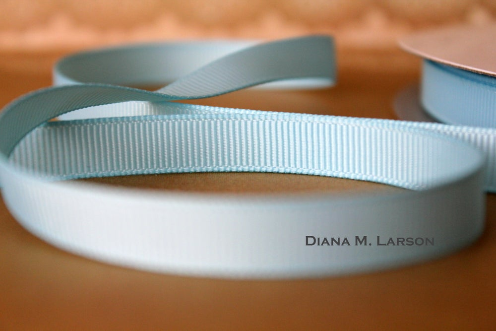 Image of Lt. Blue grosgrain ribbon