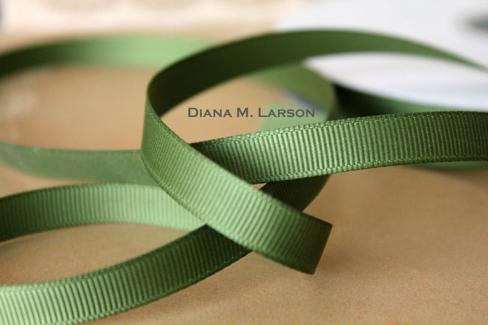 Image of Willow green grosgrain ribbon
