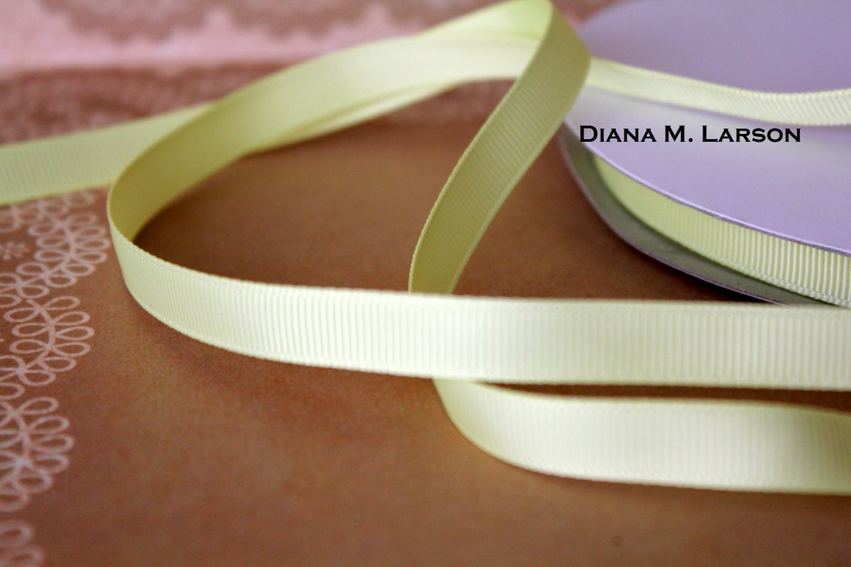Image of Baby maize grosgrain ribbon