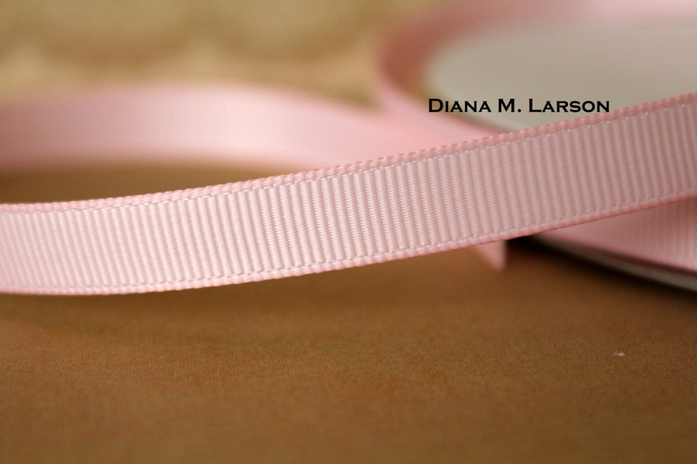 Image of Lt. Pink grosgrain ribbon