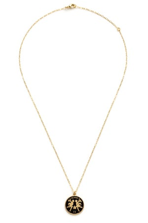 Image of Amano Gemini Enamel Medallion Necklace